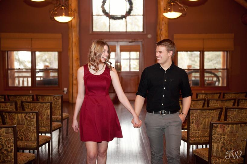 couple planning a Buffalo Mountain Lodge wedding captured by Tara Whittaker Photography