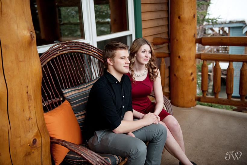 Balcony of the Wapiti Longhouse at Buffalo Mountain Lodge captured by Tara Whittaker Photography