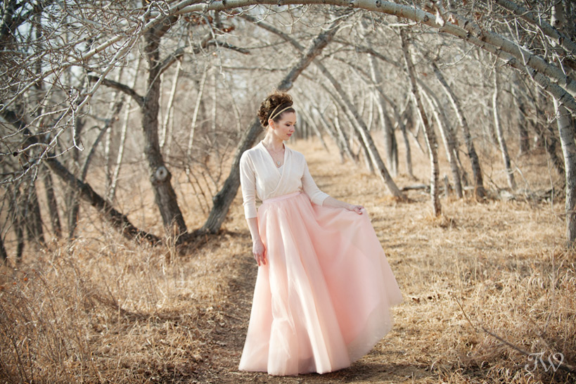 bride wearing a tulle skirt from Adorn Boutique captured by Tara Whittaker Photography