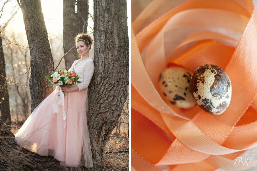spring bride wearing a tulle skirt captured by Tara Whittaker Photography