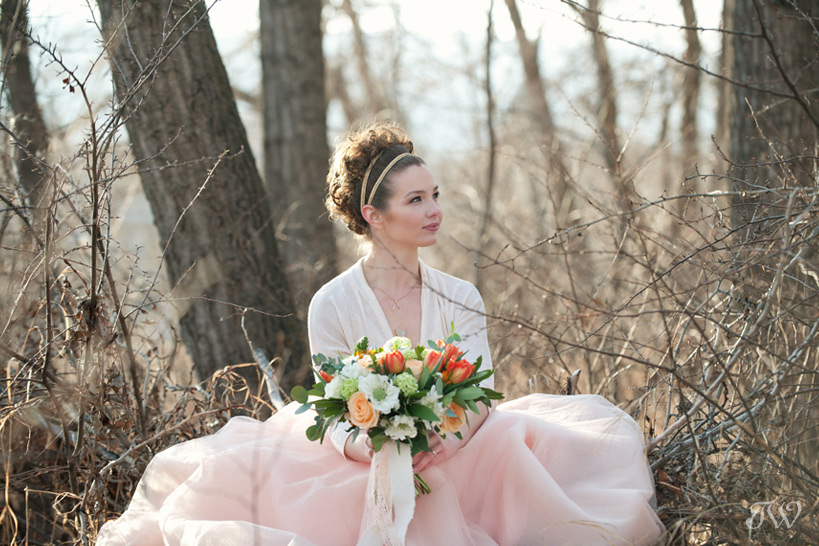 portrait of a spring bride captured by Tara Whittaker Photography