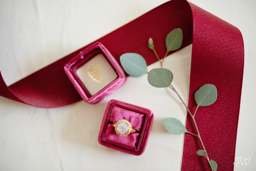 Ring in a Mrs Box captured by Calgary wedding photographer Tara Whittaker