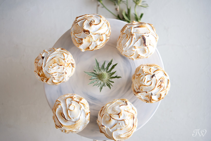 lemon meringue pies from Crave captured by Tara Whittaker Photography