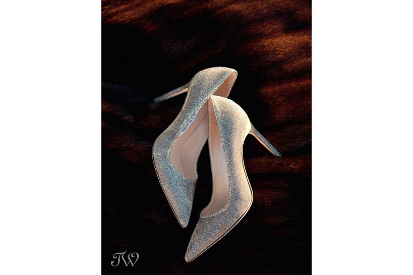 Manolo Blahnik wedding shoes captured by Calgary wedding photographer Tara Whittaker