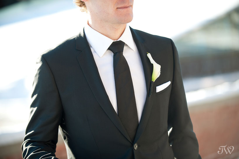 groom details captured by Calgary wedding photographer Tara Whittaker