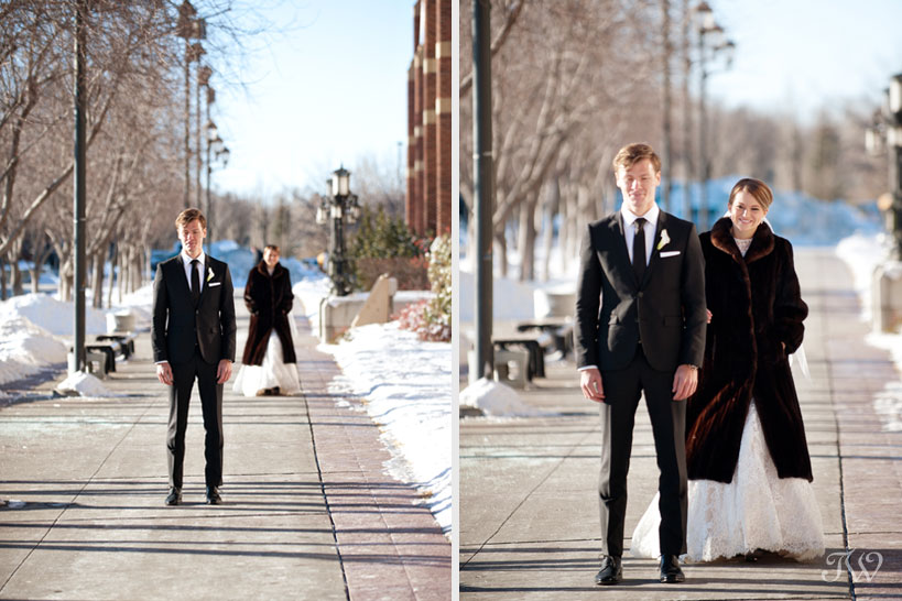 First look captured by Calgary wedding photographer Tara Whittaker
