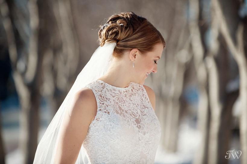 bridal portrait captured by Calgary wedding photographer Tara Whittaker