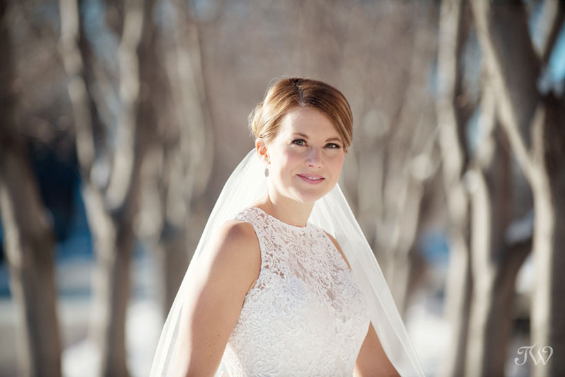winter bridal portrait captured by Tara Whittaker Photography