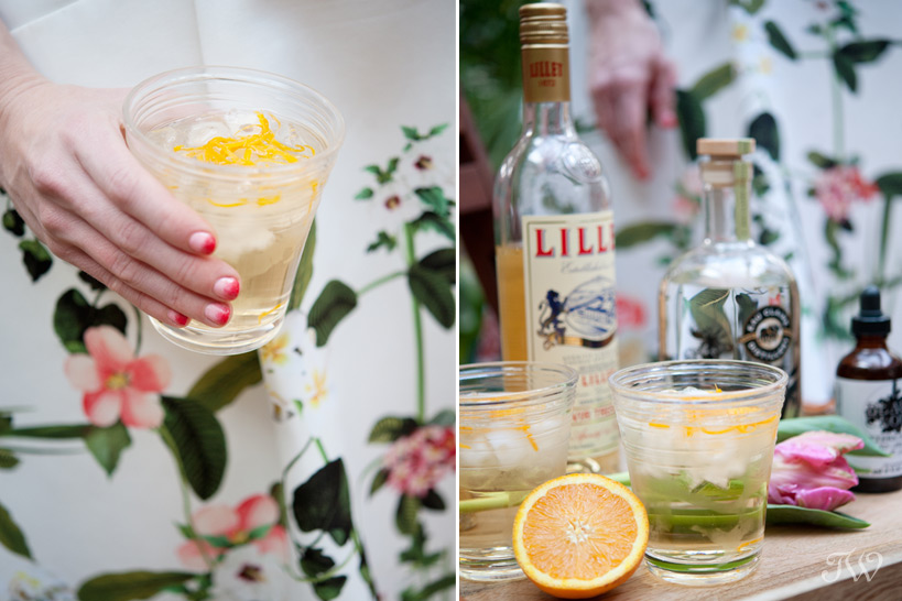cocktails at a patio party captured by Tara Whittaker Photography