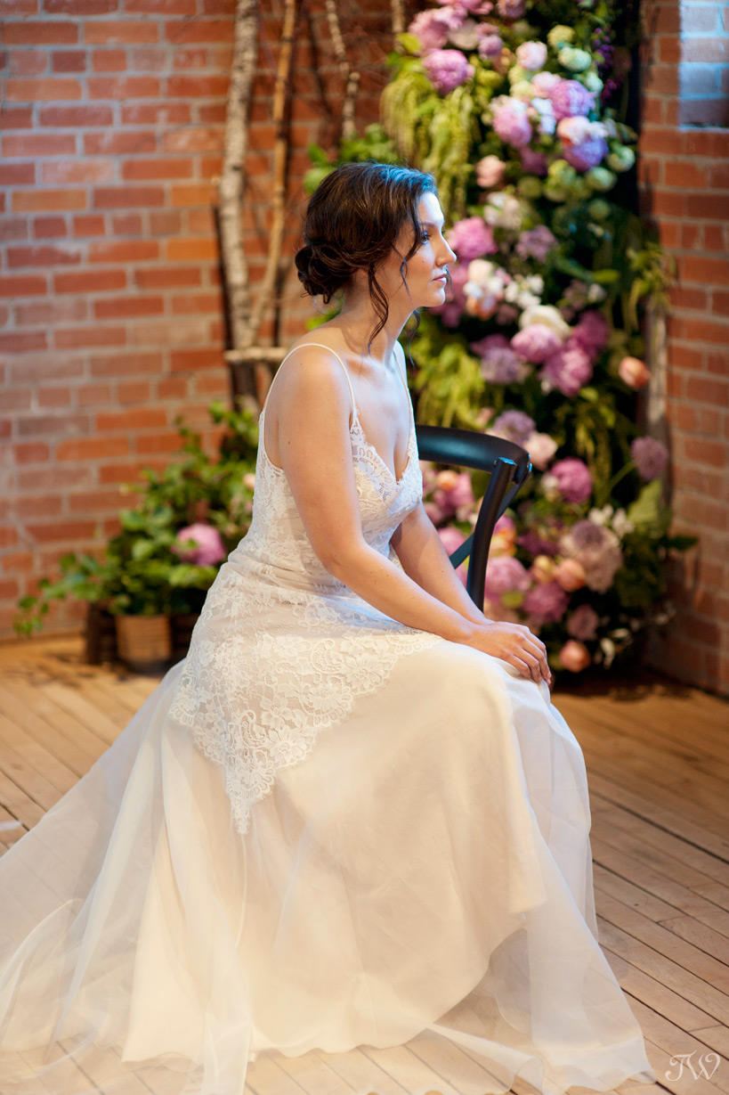 bride in Truvelle bridal at her Charbar wedding captured by Tara Whittaker Photography
