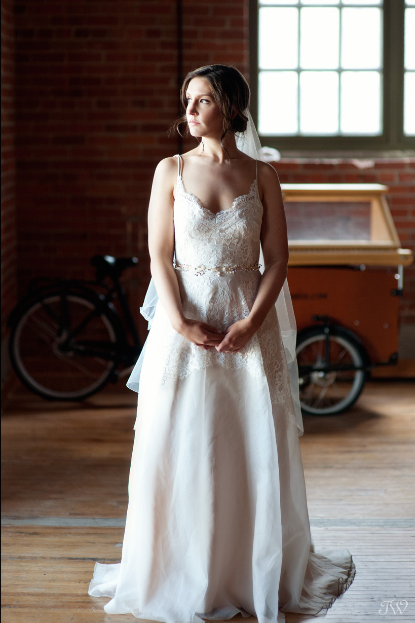 bride in a Truvelle gown from Pearl & Dot captured by Tara Whittaker Photography