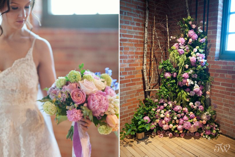 floral ceremony design from Flowers by Janie captured by Tara Whittaker Photography