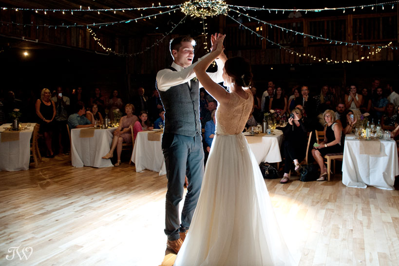 first dance at Cornerstone Theatre wedding captured by Tara Whittaker Photography