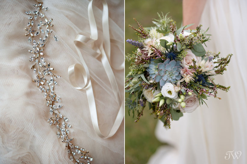 bridal bouquet by Black Earth Floral captured by Calgary wedding photographer Tara Whittaker