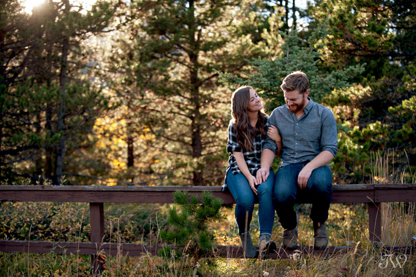 happy bride and groom in Kananaskis Country captured by Tara Whittaker Photography