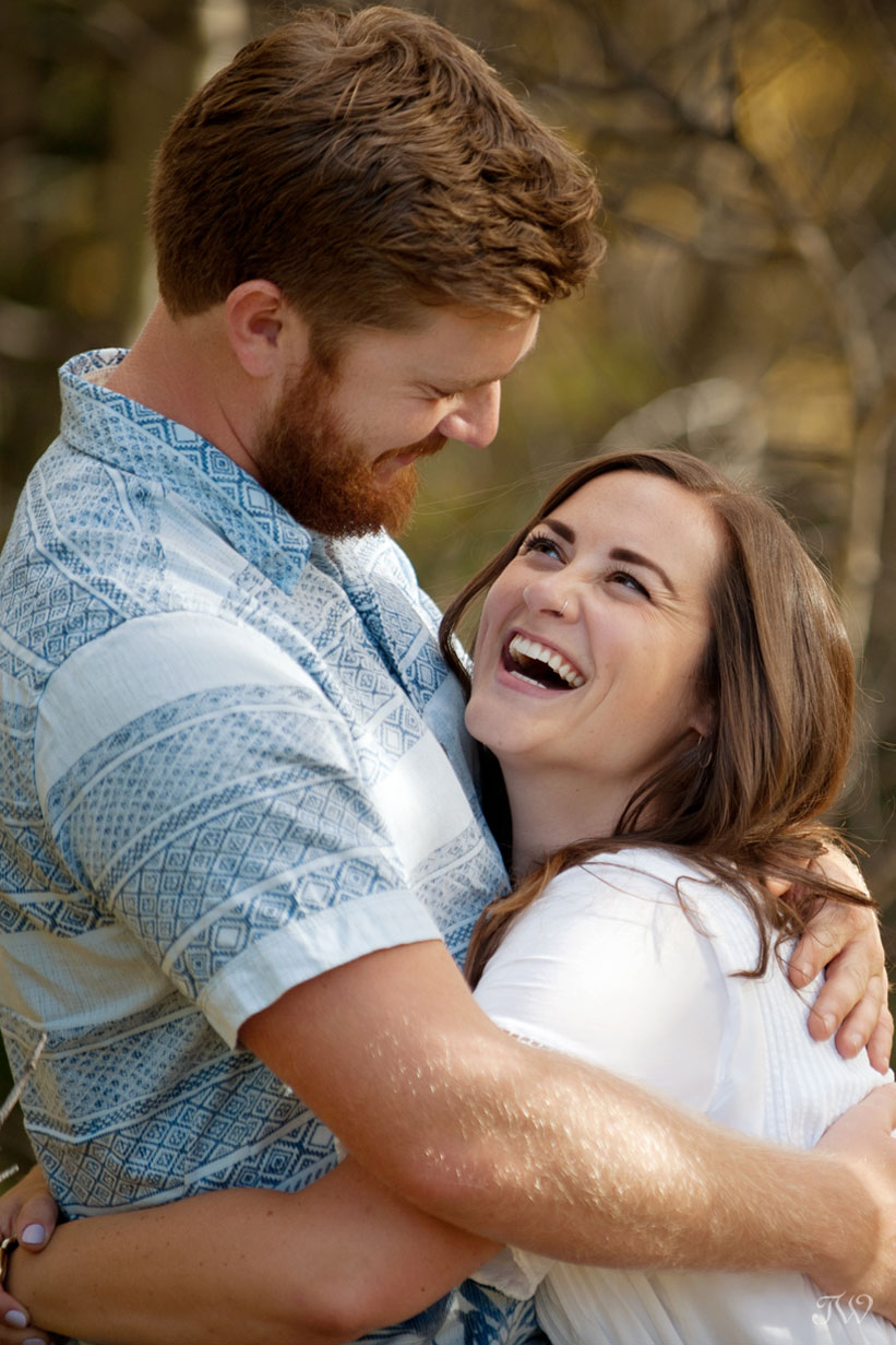 love and laughter captured by Calgary wedding photographer Tara Whittaker