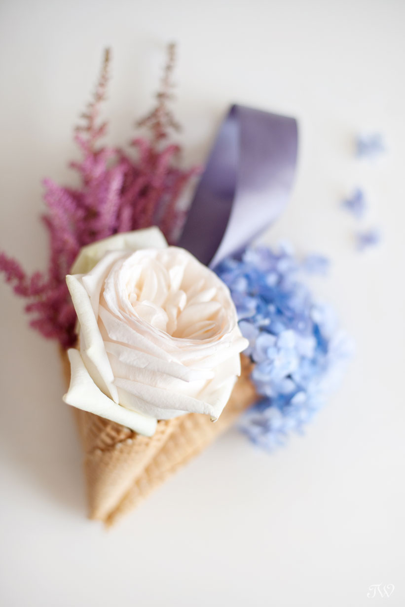 DIY instructions for ice cream cone bouquets by Tara Whittaker Photography