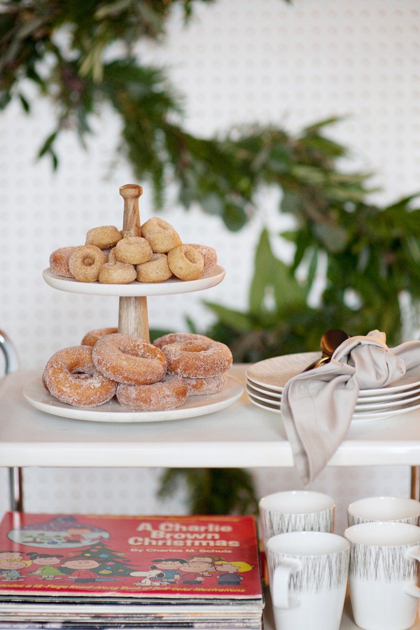 donuts for a mid century modern Christmas captured by Tara Whittaker Photography