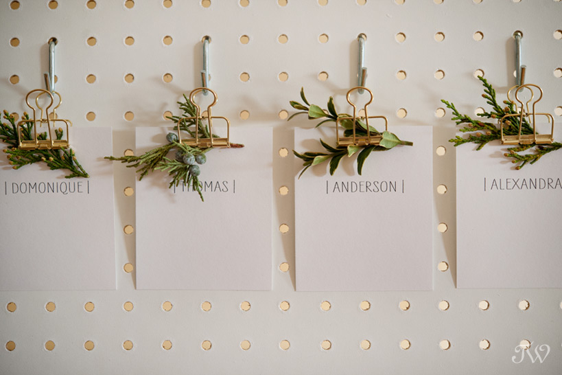 place cards from Modern Pulp for a mid century modern Christmas