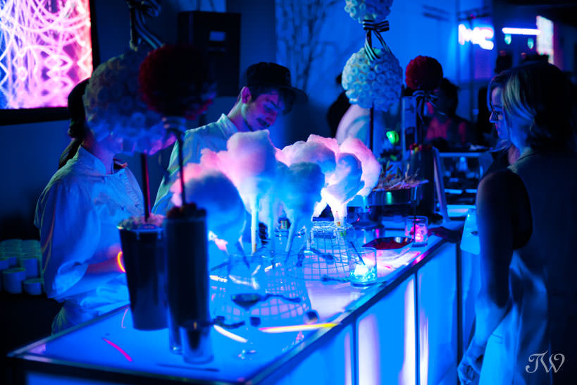 Neon candy bar at opening night of Hudson, captured by Tara Whittaker Photography