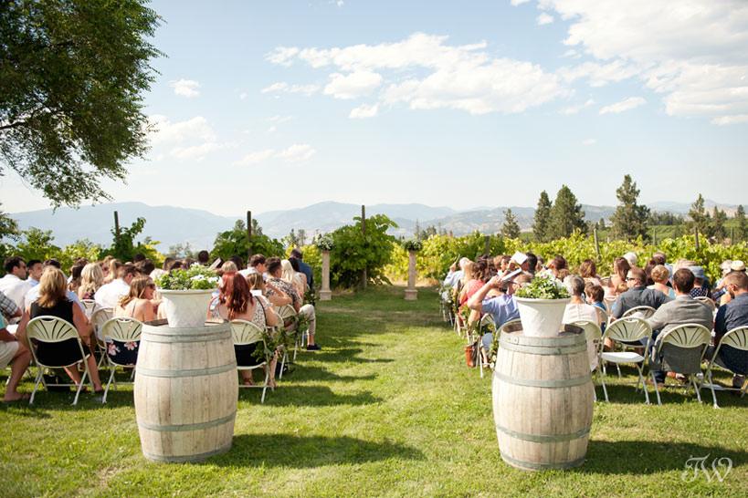 vineyard wedding ceremony in Kelowna captured by Tara Whittaker Photography