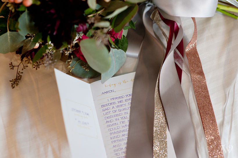 hand written vows for a Lake House wedding captured by Calgary wedding photographer Tara Whittaker