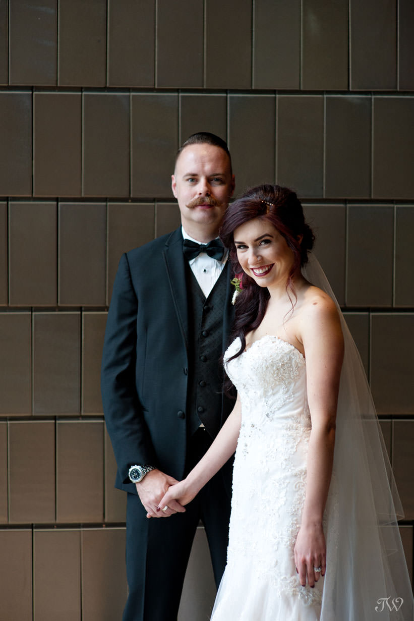 wedding portraits at the National Music Centre captured by Calgary wedding photographer Tara Whittaker