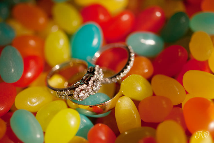 ring shot at a Lake House wedding captured by Calgary wedding photographer Tara Whittaker