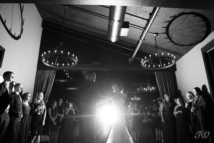 first dance at a Lake House wedding captured by Calgary wedding photographer Tara Whittaker