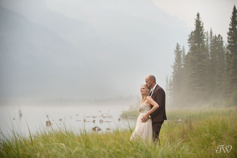 Caitie and Mark's Spray Lakes engagement session captured by Tara Whittaker Photography