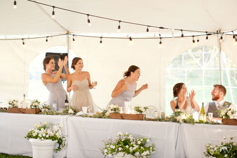 Wedding reception in Kelowna captured by Tara Whittaker Photography