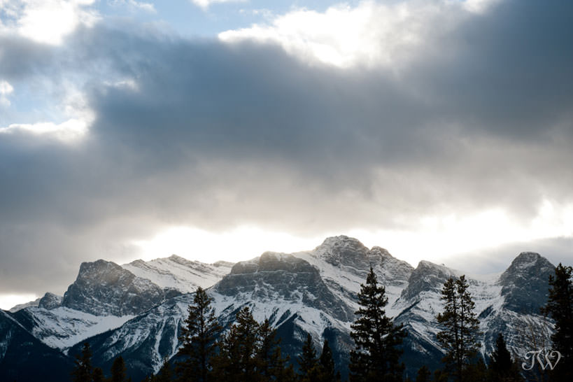 The Three Sisters near Canmore captured by Tara Whittaker Photography
