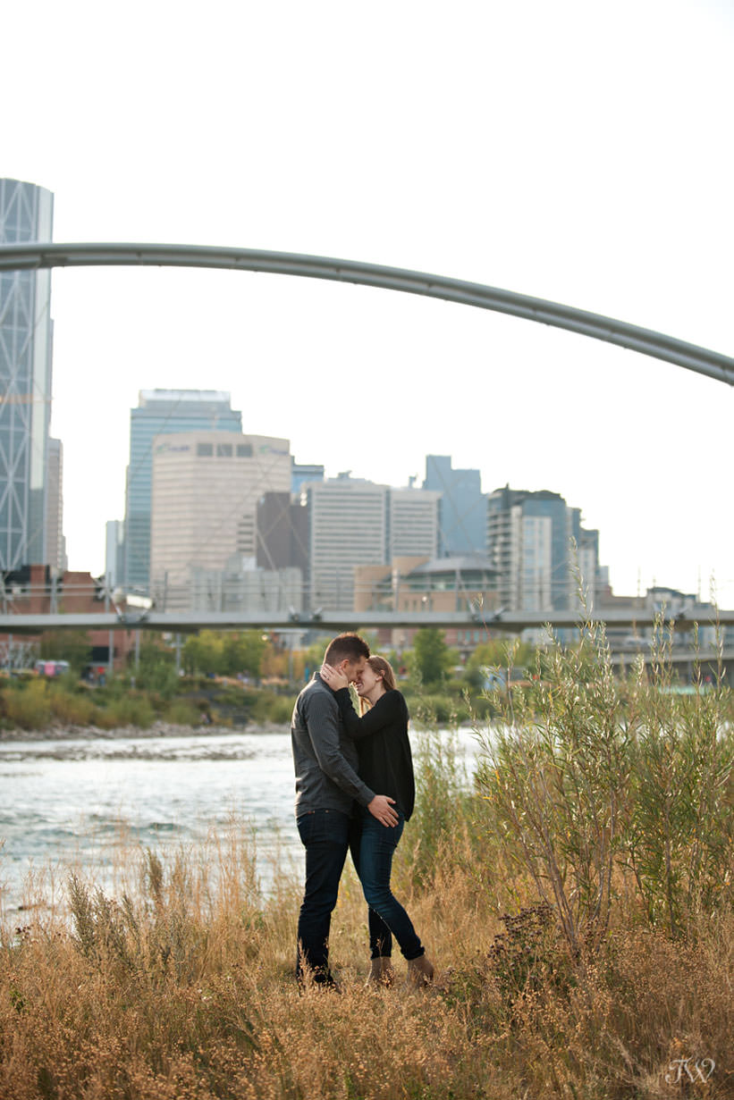 Charissa & Travis at their East Village engagement session captured by Tara Whittaker Photography