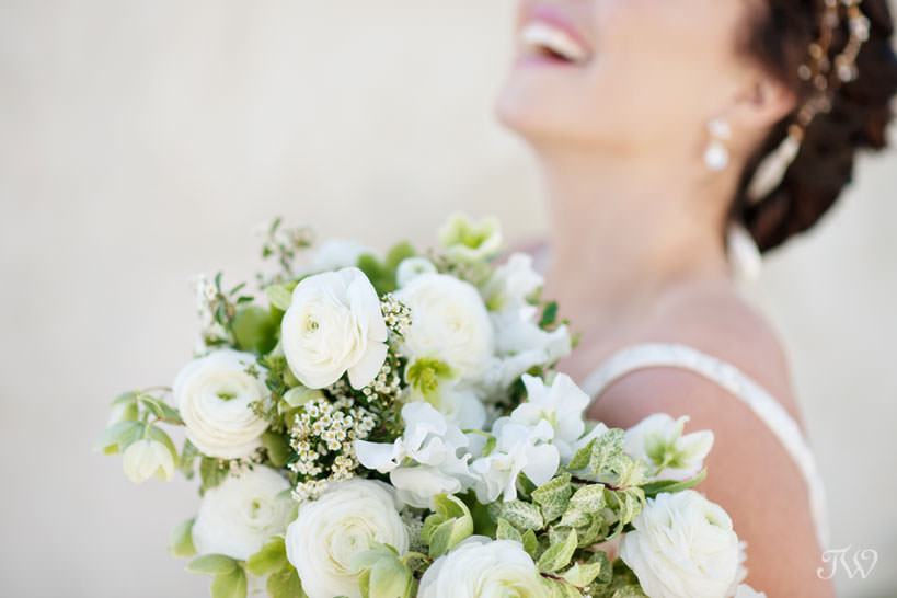 Bride with her bouquet royal wedding inspiration by Tara Whittaker Photography