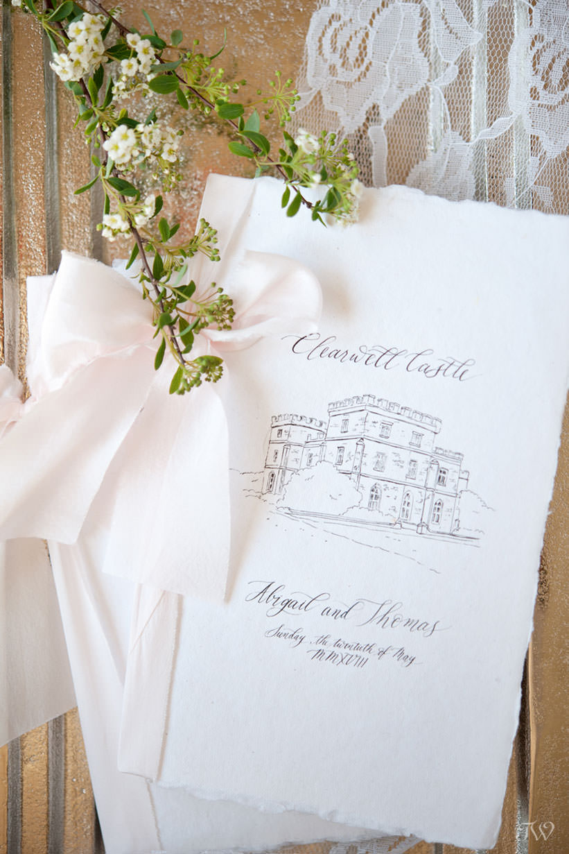 Royal wedding inspired programs from wedding calligrapher Debbie Wong Design captured by Tara Whittaker Photography