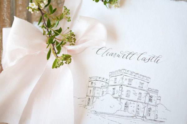 Wedding calligrapher adds a royal twist