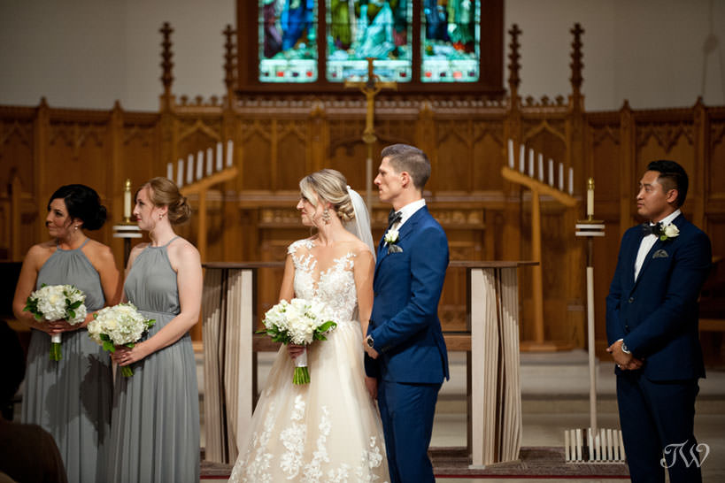 wedding ceremony at St Stephen's Church captured by Calgary wedding photographer Tara Whittaker