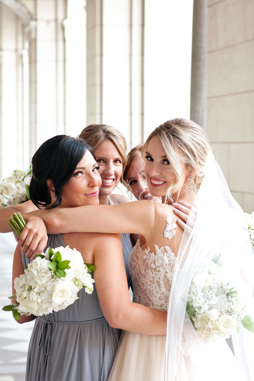 bridal party at Hudson Bay captured by Calgary wedding photographer Tara Whittaker