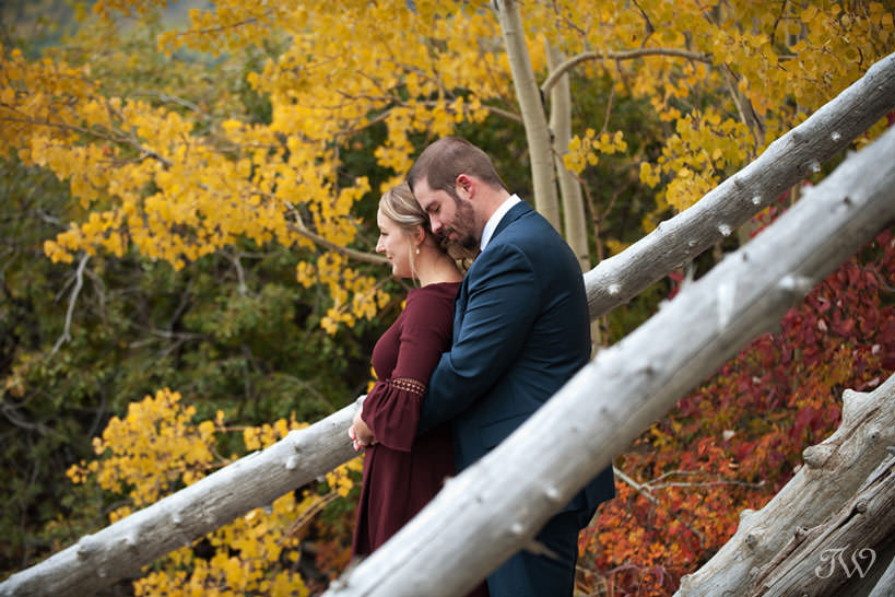 fall foliage makes the perfect backdrop for an engagement session with Tara Whittaker Photography
